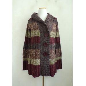BCBG MaxAzria Cardigan Sweater Large NWT Striped
